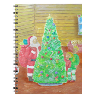 op Kerstmisvooravond Ringband Notitieboek