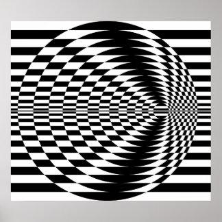 Op Kunst die Concentrische Cirkels 01 tegenover el Poster