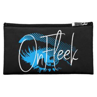 Op Mooie Oog Fleek en Wenkbrauw - Elektrisch Blauw Cosmetic Tasje