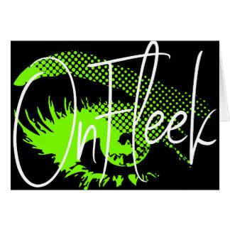 Op Mooie Oog Fleek en Wenkbrauw - Groen Neon Briefkaarten 0