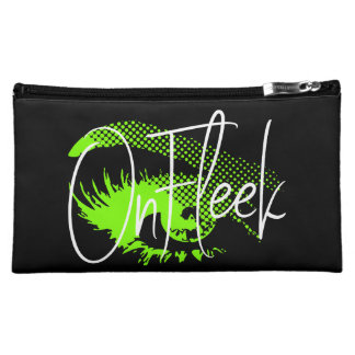 Op Mooie Oog Fleek en Wenkbrauw - Groen Neon Make-up Tasje