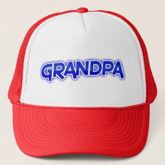 Opa (blauw die van letters voorzien) trucker pet