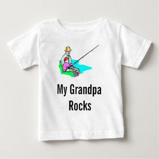 opa die, Mijn Rotsen van de Opa vissen Baby T Shirts
