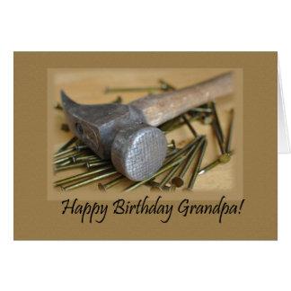 Opa van de hamer en de Gelukkige van de Verjaardag Kaart