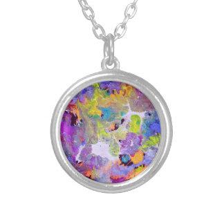 Opalen Kleuren Zilver Vergulden Ketting