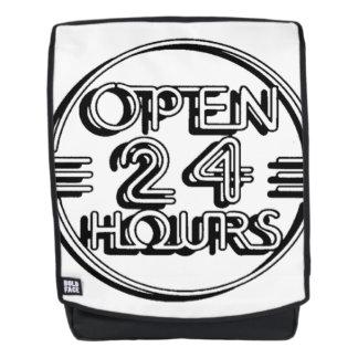 OPEN 24 UREN RUGTASSEN