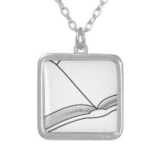 Open Boek Zilver Vergulden Ketting