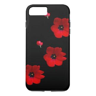Open Rode Tulpen op het Zwarte Hoesje van de