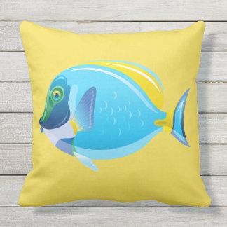 Openlucht werp hoofdkussen-Tropische Vissen Buitenkussen