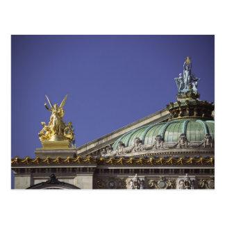 Opera DE Parijs Garnier in Parijs, Frankrijk Briefkaart