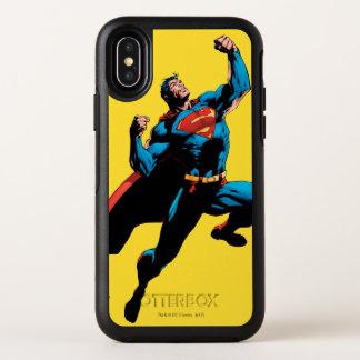 Opgeheven de Wapens van de superman OtterBox Symmetry iPhone X Hoesje