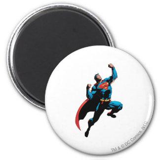 Opgeheven de Wapens van de superman Ronde Magneet 5,7 Cm