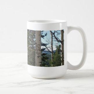 Opgesplitst in paradijs koffiemok