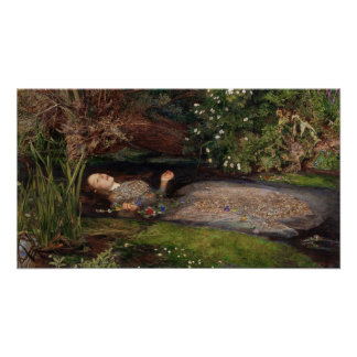Ophelia door John Everett Millais Poster
