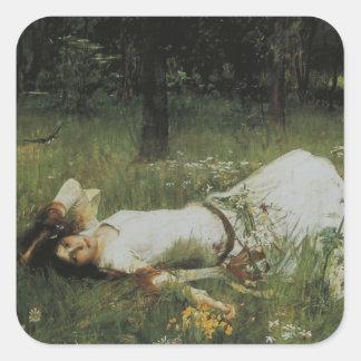 Ophelia [John William Waterhouse] Vierkante Sticker