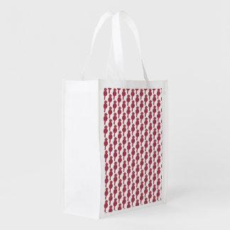 Opnieuw te gebruiken vogeldruk die het winkelen boodschappentas