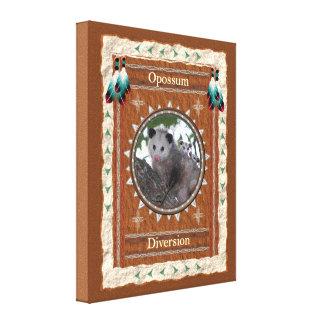Opossum - de Afleidingsactie rekte Verpakt Canvas