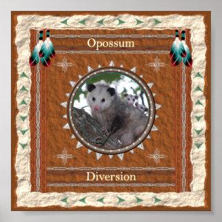 Opossum - de Druk van het Poster van de