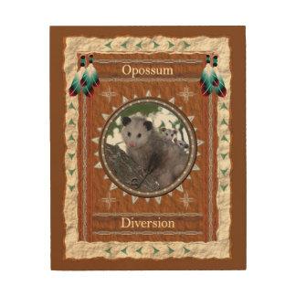 Opossum - het Houten Canvas van de Afleidingsactie