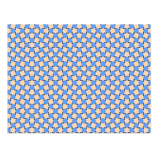 optical illusion - bendy pattern briefkaart