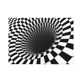 Optische illusie canvas afdruk