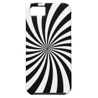 Optische illusie die Zwart-witte Werveling bewegen Tough iPhone 5 Hoesje