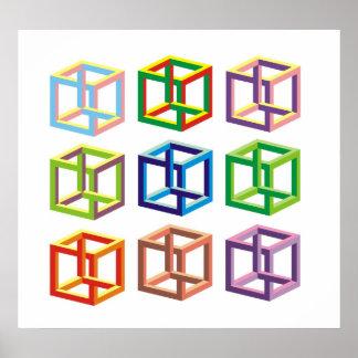 optische illusie poster