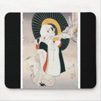 Opvallend het mooie schilderen van Japanse Vrouw Muismatten