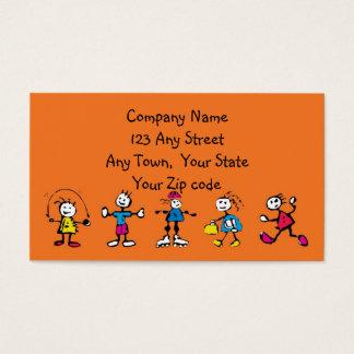 opvang, kinderverzorging, leraar of baby-sitting visitekaartjes