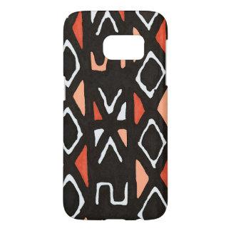 Oranje Afrikaanse StammenDruk Mudcloth Samsung Galaxy S7 Hoesje