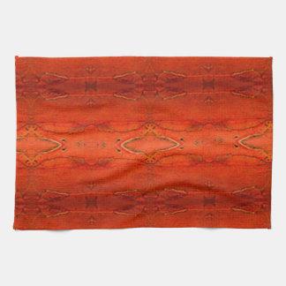Oranje Azteeks Patroon Theedoek