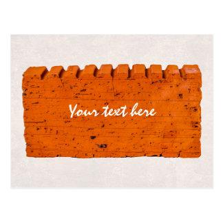 Oranje Baksteen - Atoom van Verwezenlijking Briefkaart