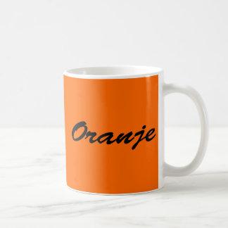 Oranje Basic Witte Mok