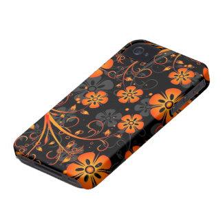 oranje bloemen vectorart. iPhone 4 covers