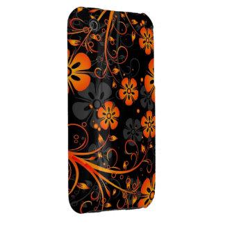 oranje bloemen vectorart. iPhone 3 hoesjes