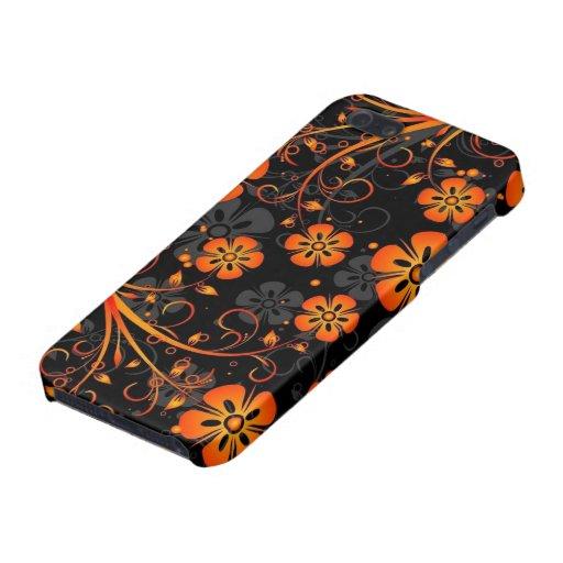 oranje bloemen vectorart. iPhone 5 cases