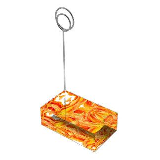 Oranje daylily de aantallentribune van de plaatskaart houder