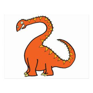Oranje Diplodocus Briefkaart