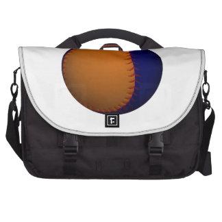 Oranje en Blauw Honkbal Laptop Reistas