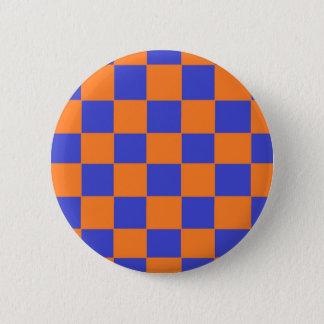 Oranje en Blauwe Controleurs Ronde Button 5,7 Cm
