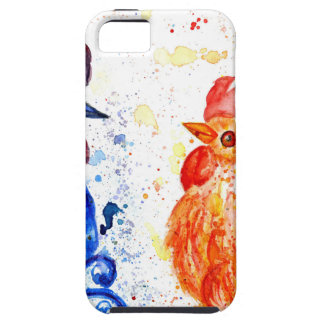 Oranje en Blauwe Hanen Tough iPhone 5 Hoesje