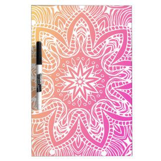 Oranje en roze mandala whiteboards