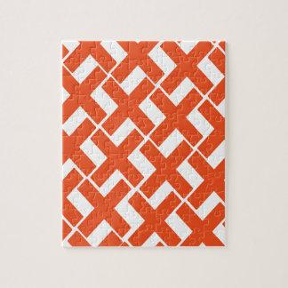 Oranje en Witte Xs Puzzel