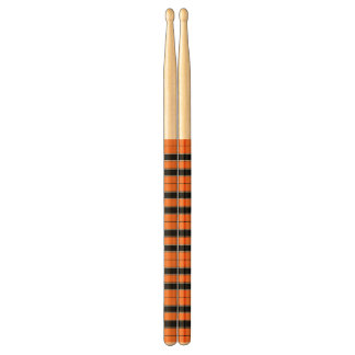 Oranje en zwart-Gestreepte Trommelstokken Drumstokjes