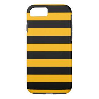 Oranje en Zwarte Horizontale Strepen iPhone 7 Hoesje