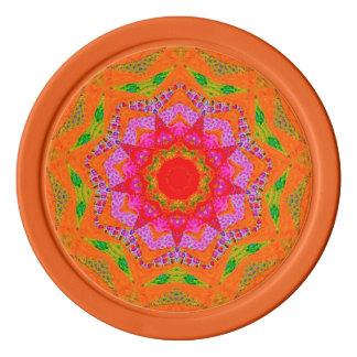 Oranje Fractal van de Tango Pokerchips