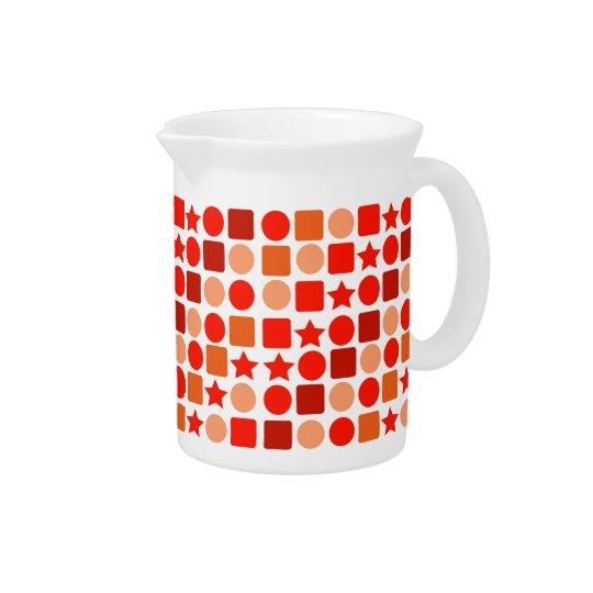 Oranje Geometrics op de Waterkruik van de Drank Drank Pitchers