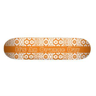 Oranje Geometrische Dag Skateboards