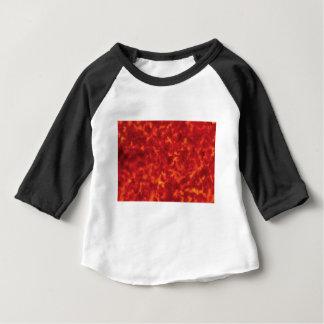 oranje gloed van lava baby t shirts