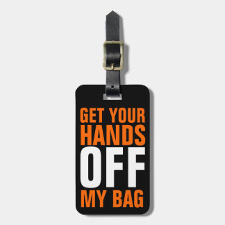 Oranje Grappig wordt WEG Uw Handen Bagagelabel